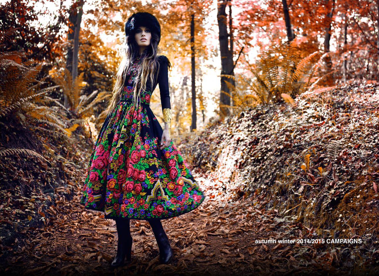 Этнический стиль в одежде и русские платки