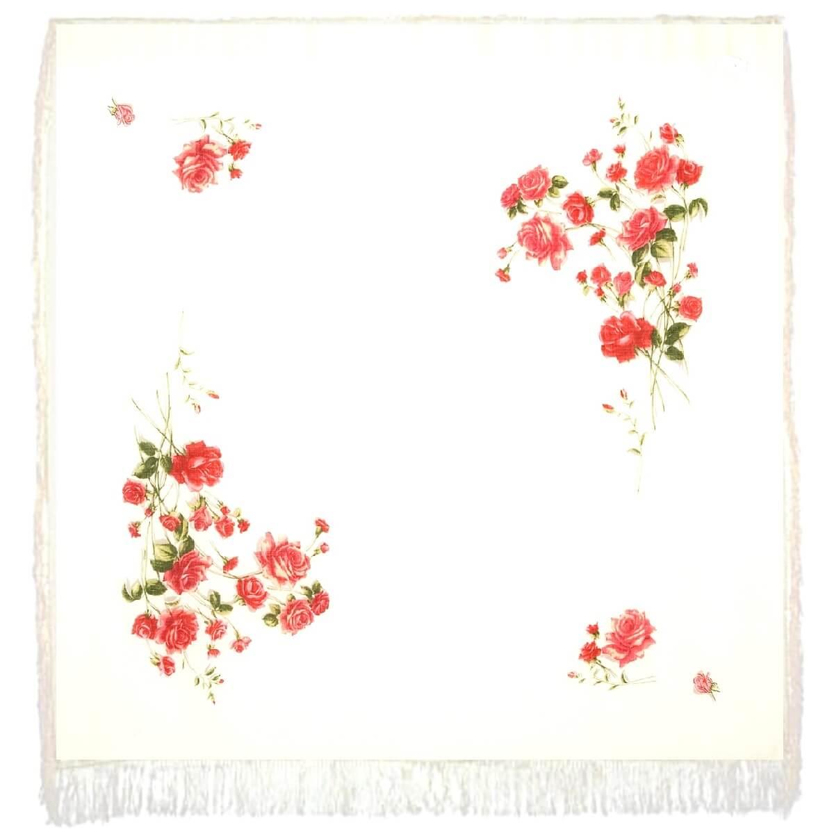 Платок «Розы на снегу» 1227-1