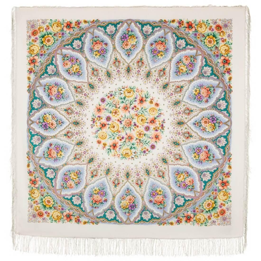 Платок «Снежинки и цветы» 1676-1