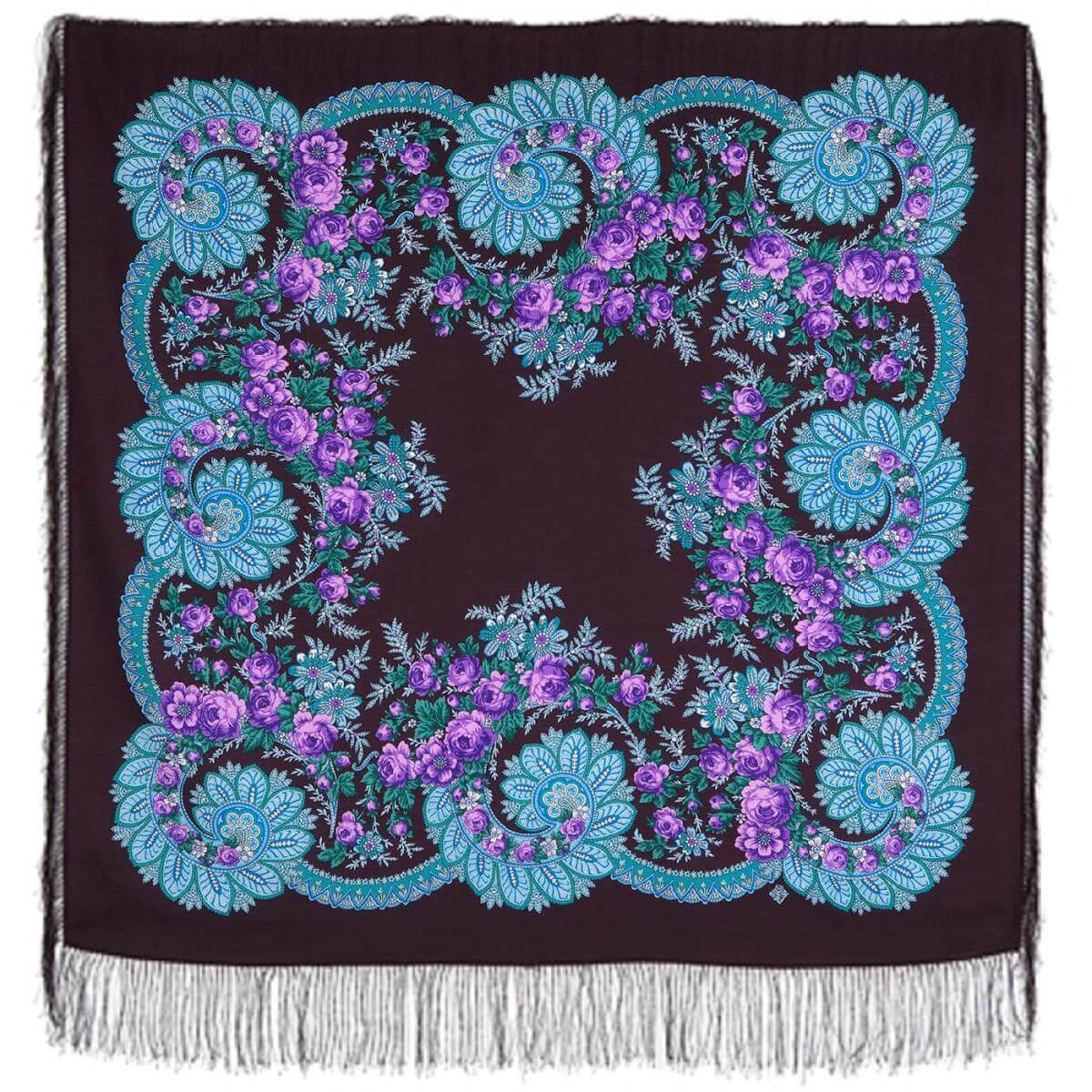 Платок «Цветочный веер» 1699-15