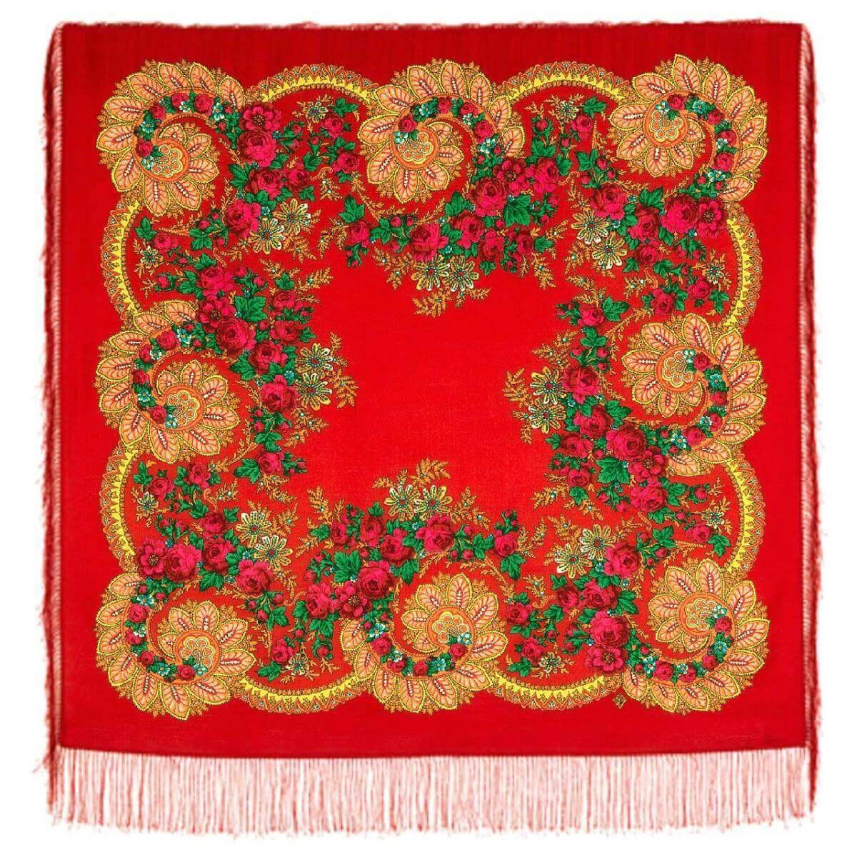 Платок «Цветочный веер» 1699-5