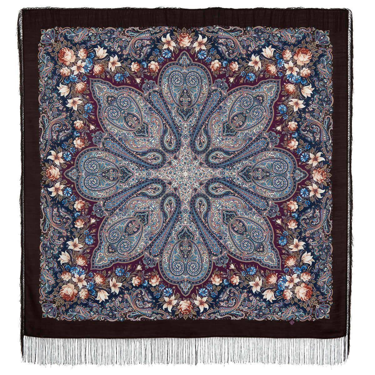 Платок «Цветочный калейдоскоп» 1789-17