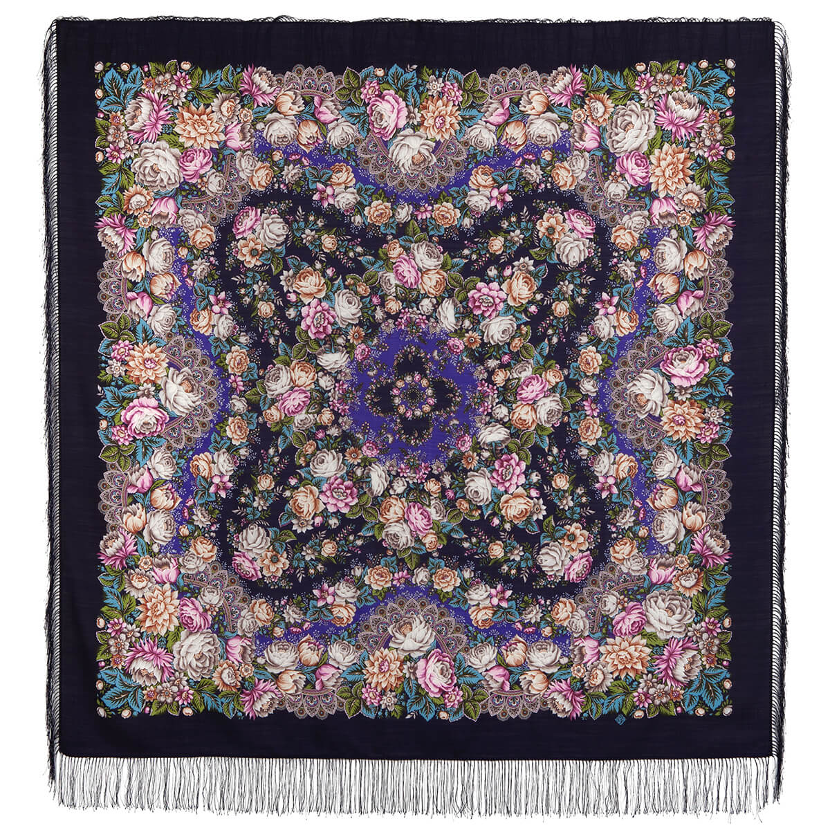 Платок «Цветочные бусы» 1797-15