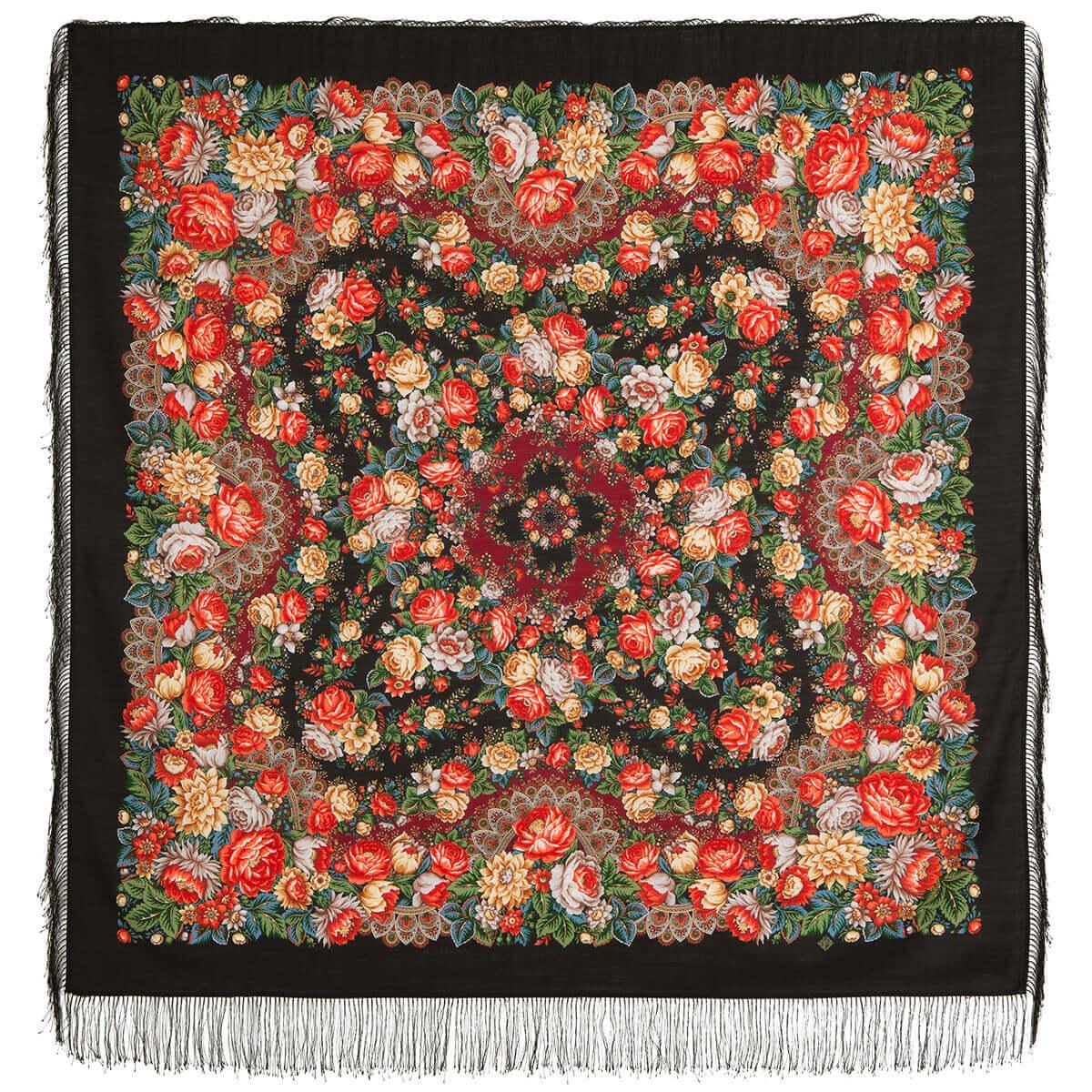 Платок «Цветочные бусы» 1797-18