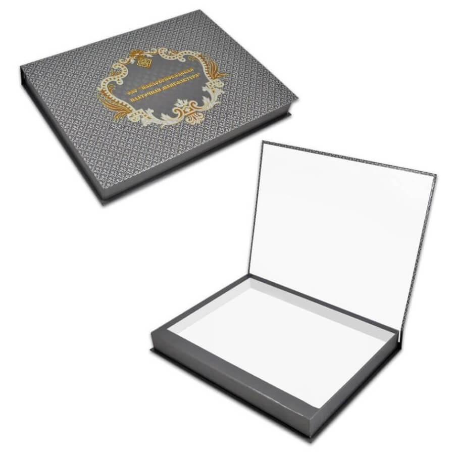 Подарочная упаковка Короб Серый