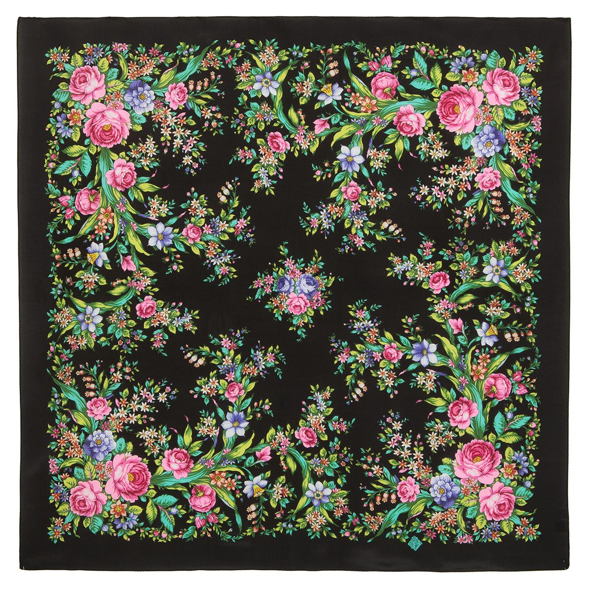 Платок «Цветочное настроение» 1732-18
