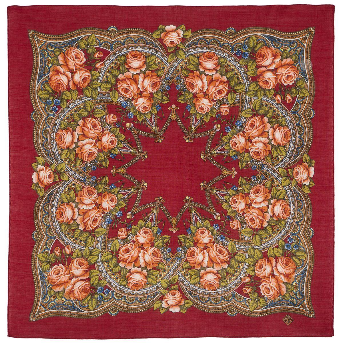 Платок «Цветочная корзиночка» 1598-6