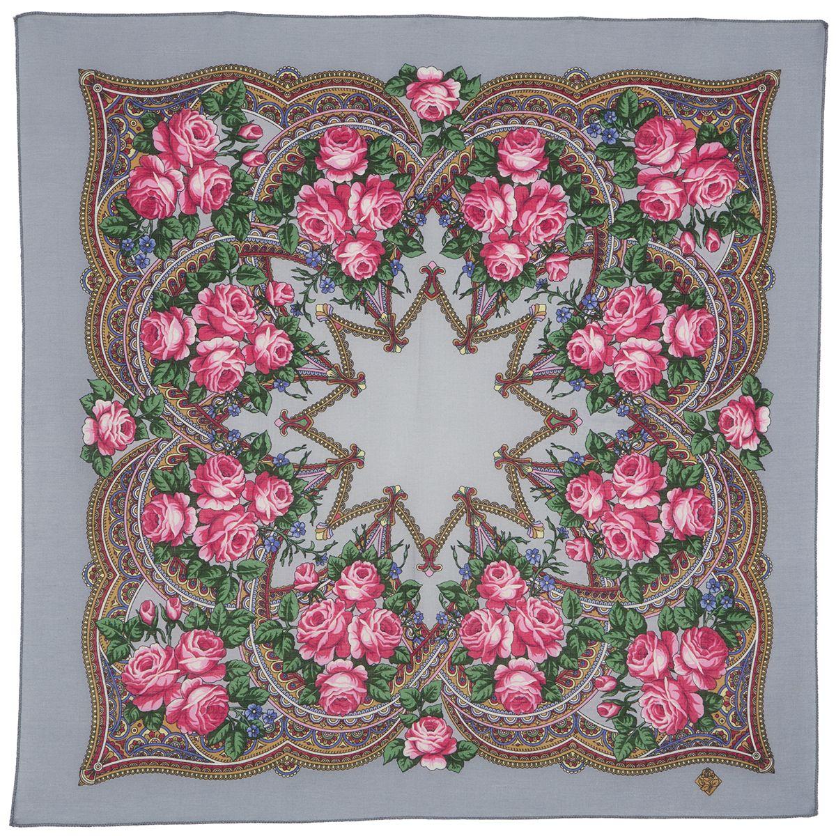 Платок «Цветочная корзиночка» 1598-2