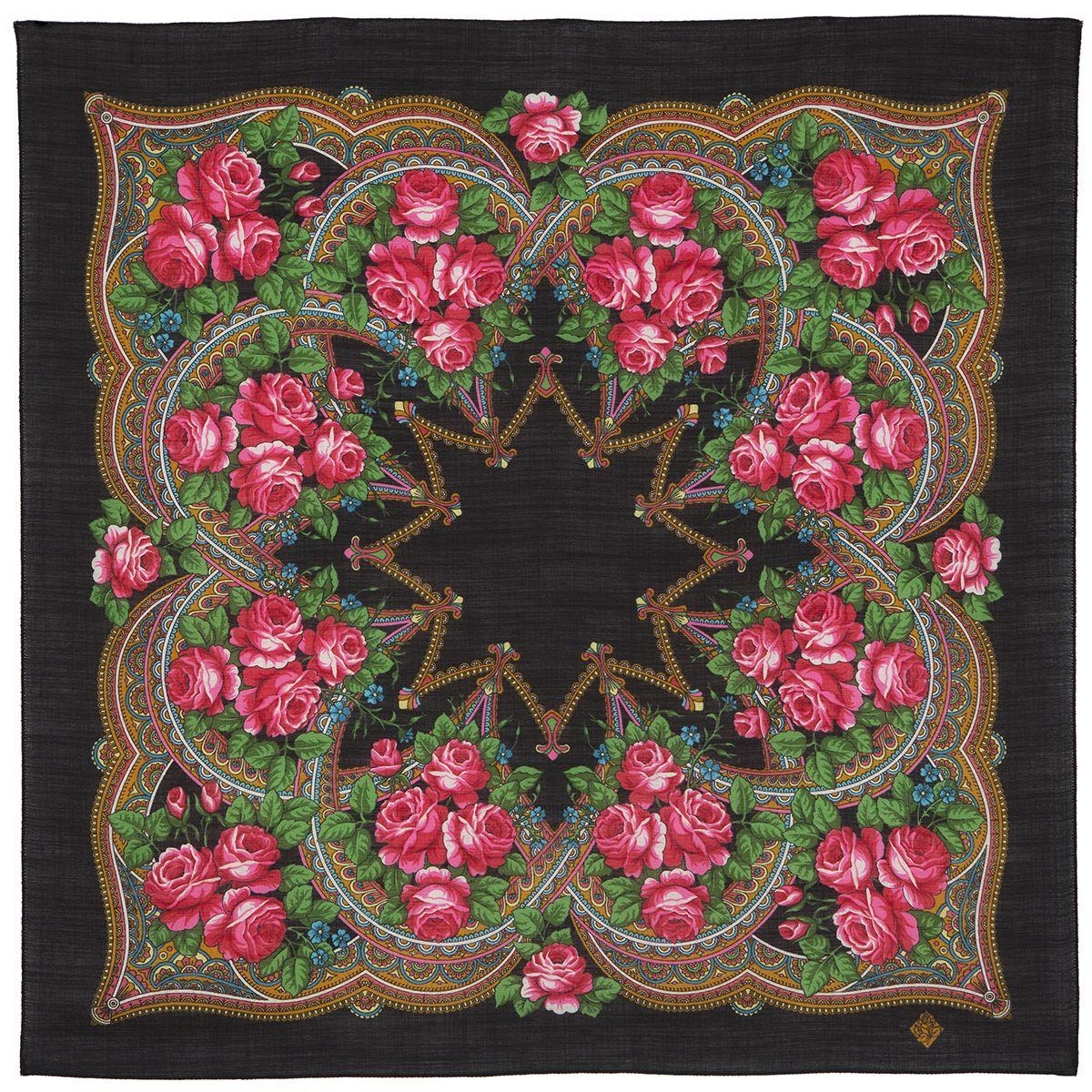 Платок «Цветочная корзиночка» 1598-18