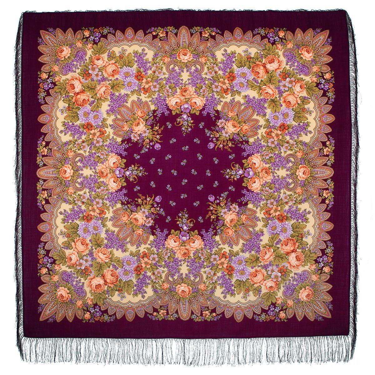 Платок «Цветет сирень» 1360-7