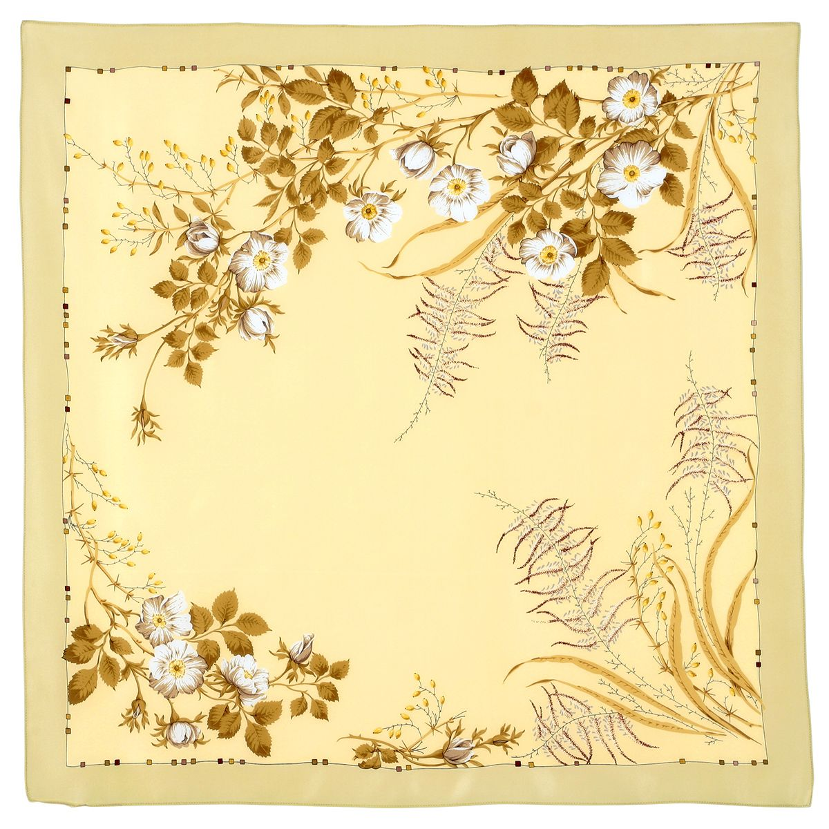Платок «Белый шиповник» 1047-0