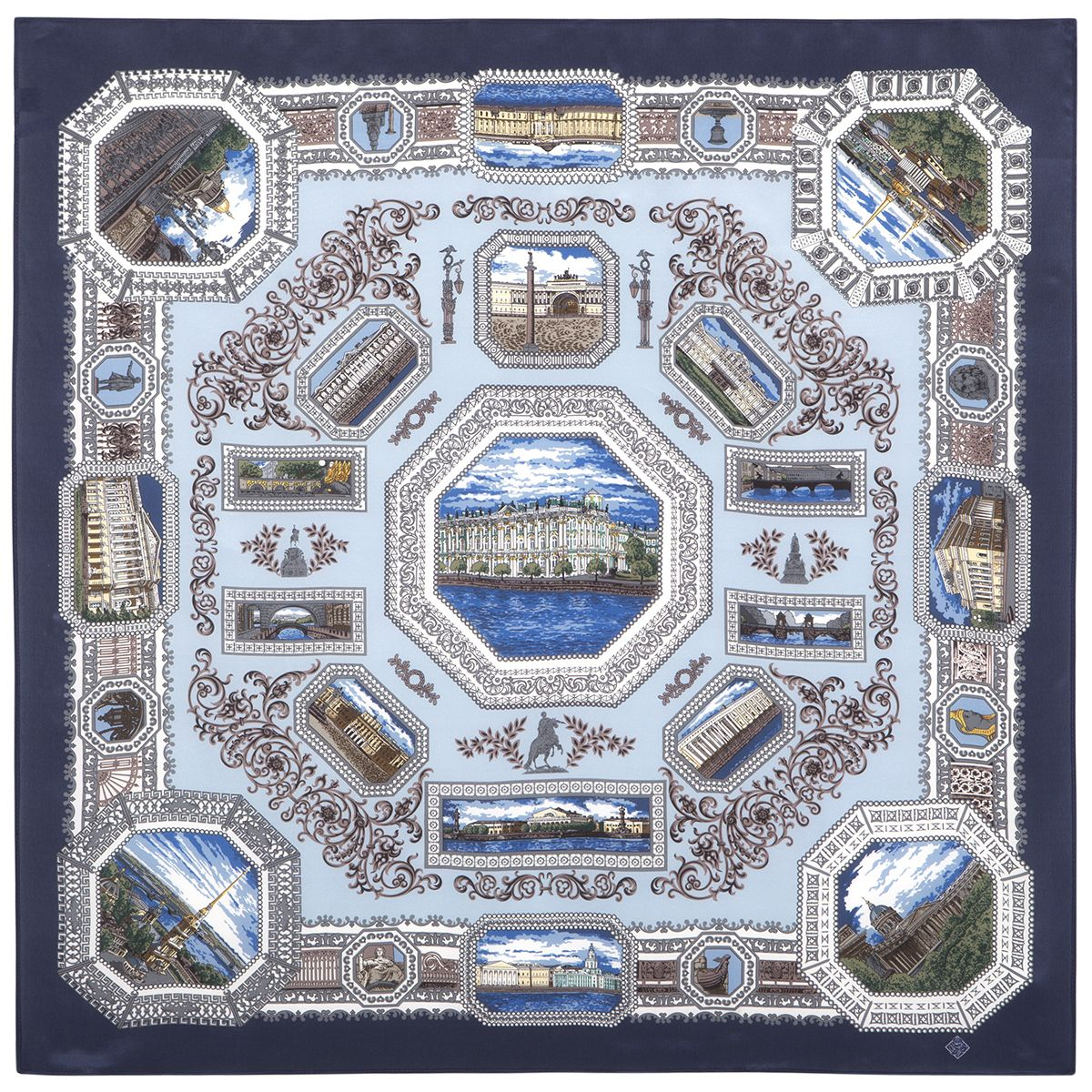 Платок «Санкт-Петербург» 584-14