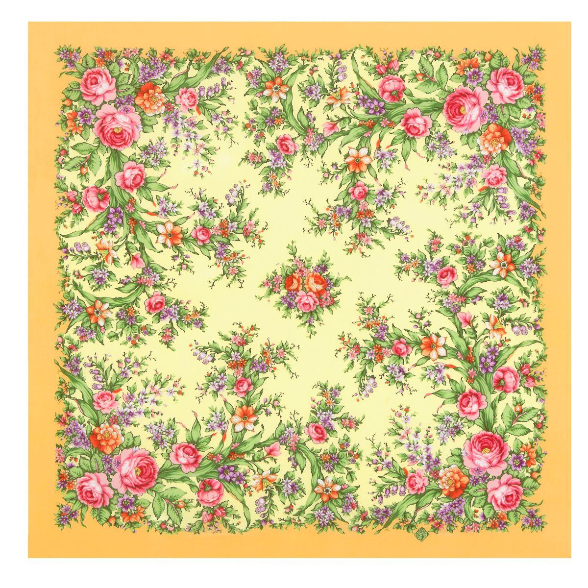 Платок «Цветочное настроение» 1732-2