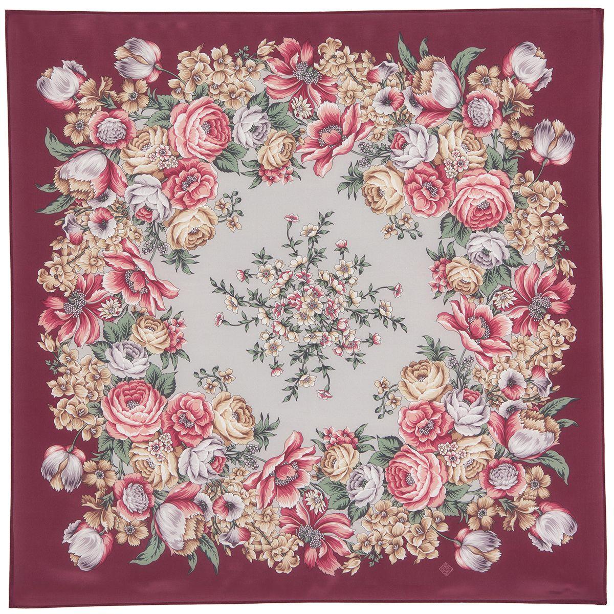 Платок «Цветы для любимой» 1595-6