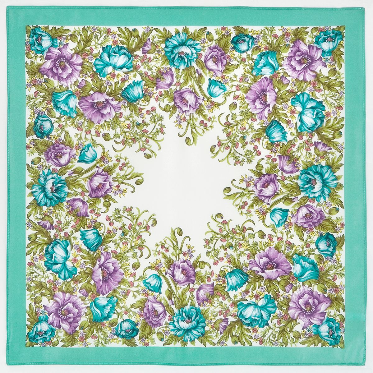 Платок «Цветущие маки» 1485-2