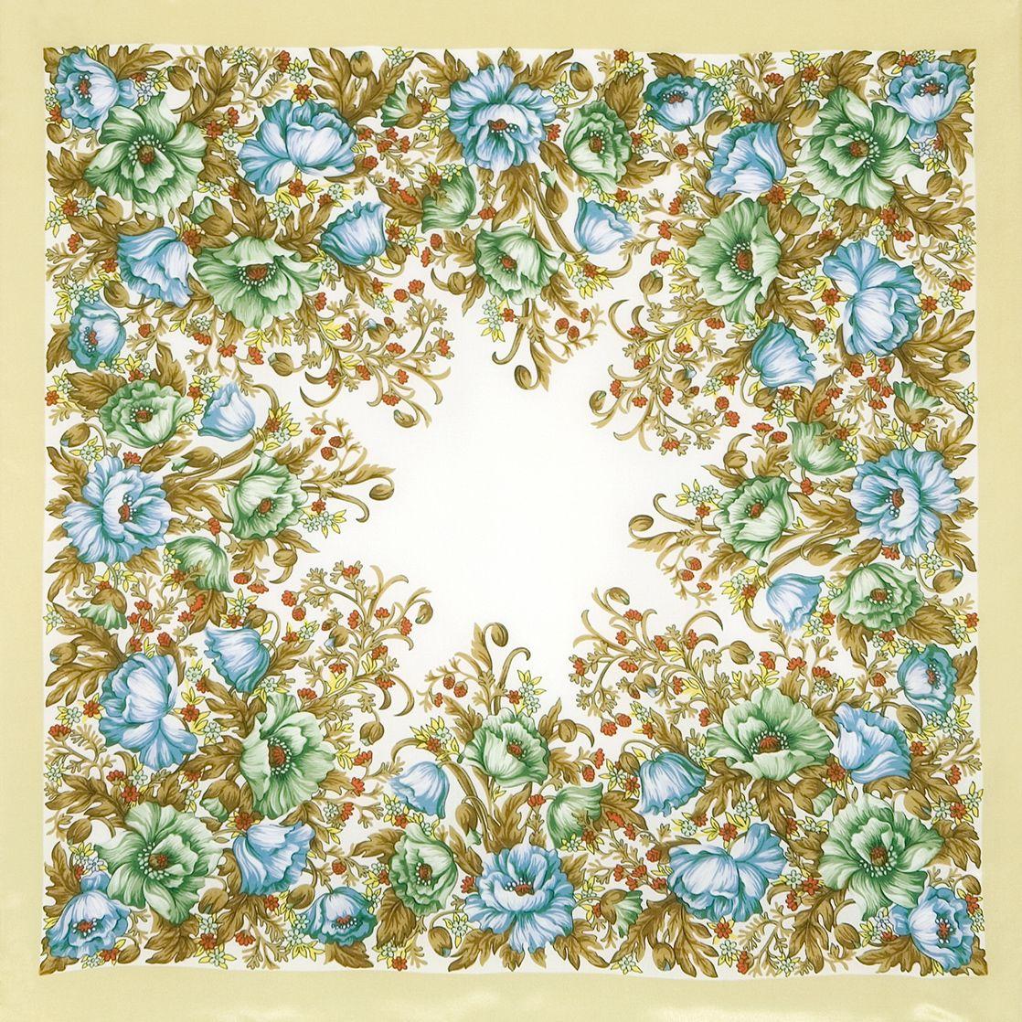 Платок «Цветущие маки» 1485-1
