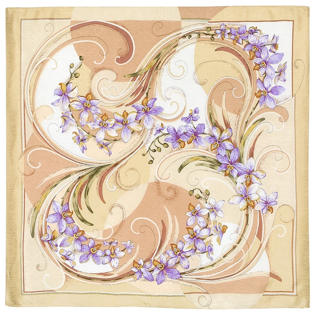 Платок «Танцующие орхидеи» 1444-3
