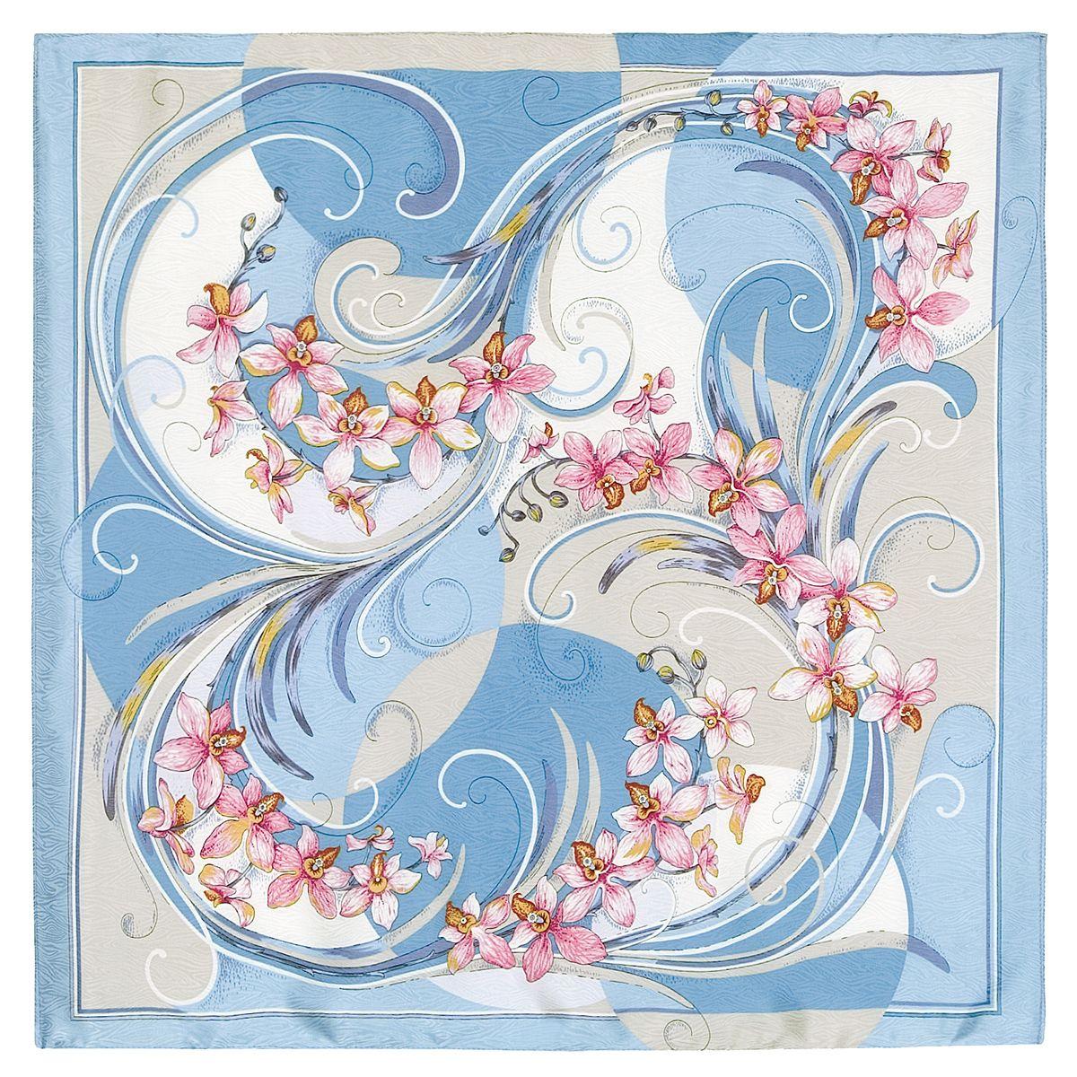 Платок «Танцующие орхидеи» 1444-2