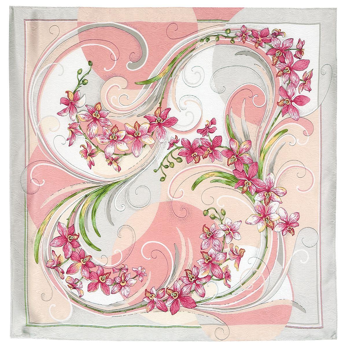 Платок «Танцующие орхидеи» 1444-1
