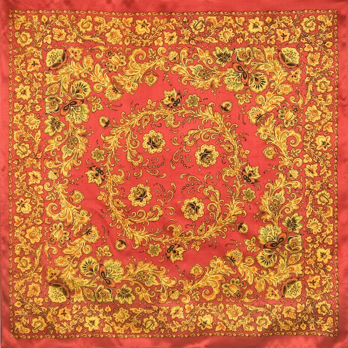 Платок «Хохломские узоры» 1499-3