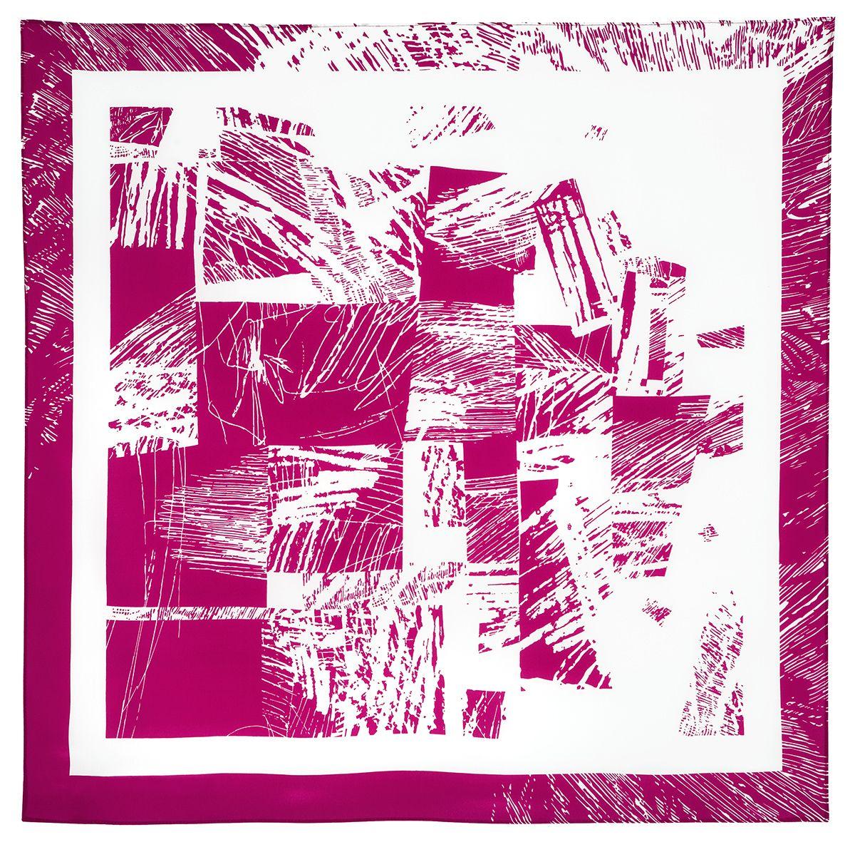 Платок «Графический ноктюрн» 1367-6