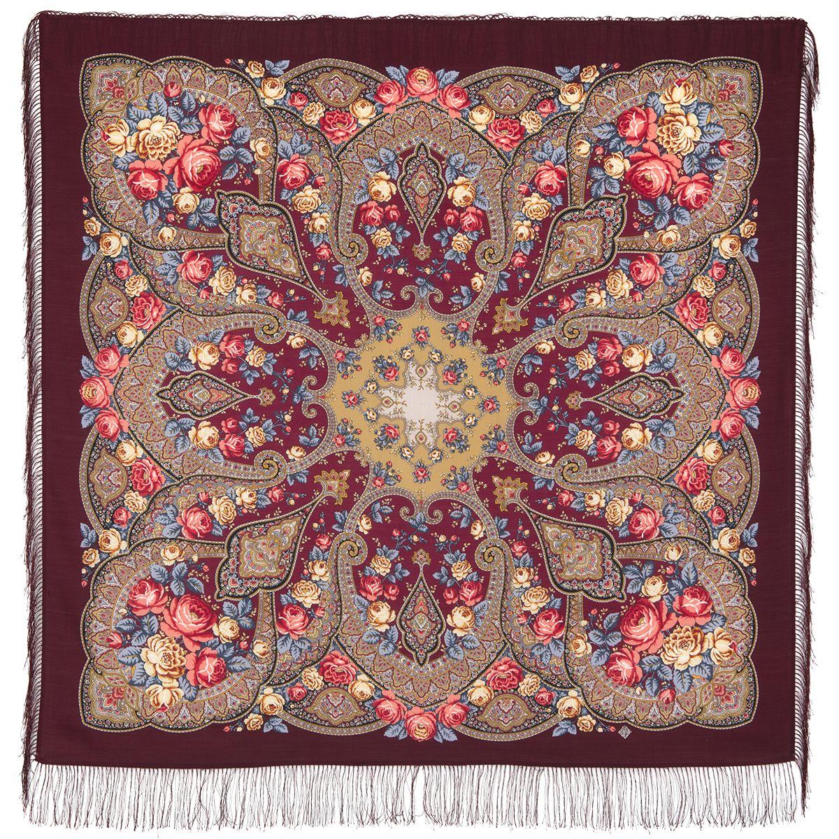 Платок «Розовые дали» 1639-7