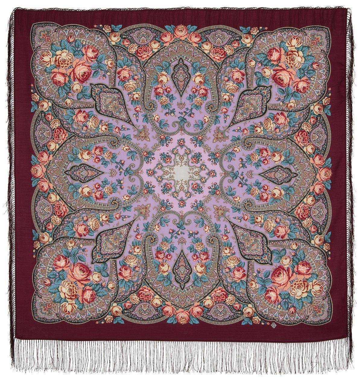 Платок «Розовые дали» 1639-6