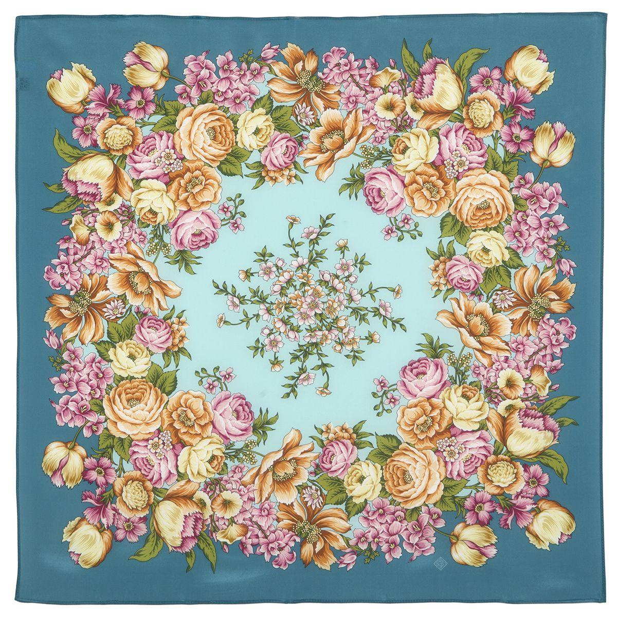 Платок «Цветы для любимой» 1595-12