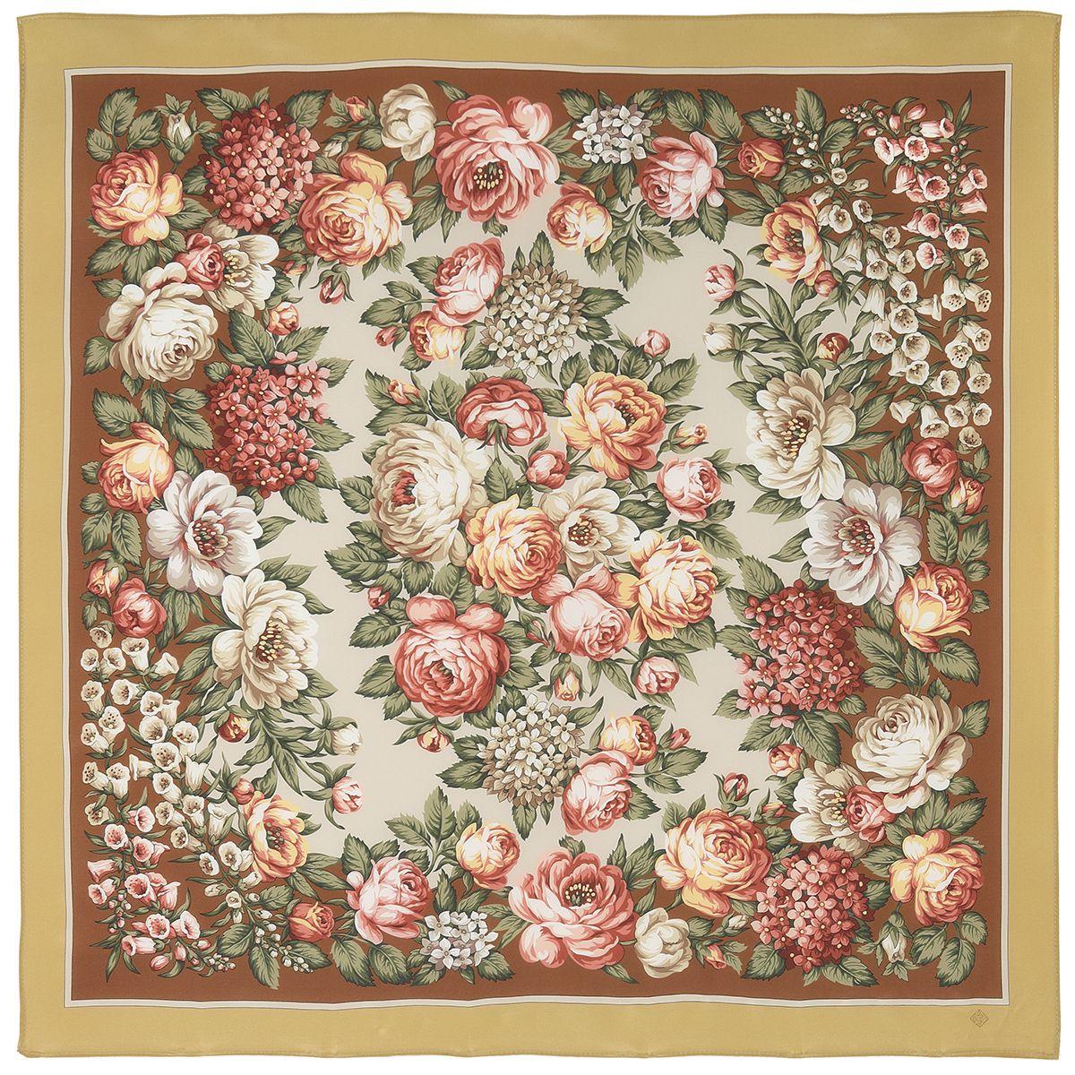 Платок «Чайные розы» 1443-2