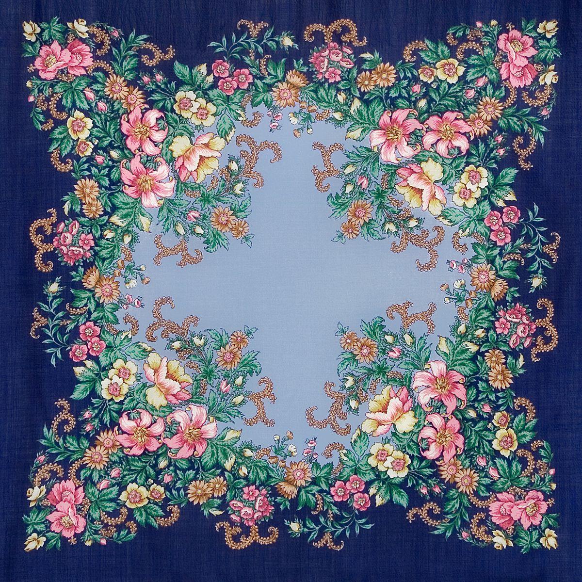 Платок «Вечерний сад» 1488-13