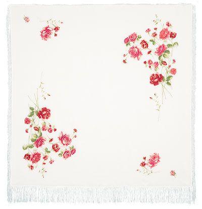 Платок «Розы на снегу» 1227-2