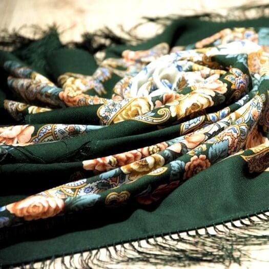Платки шерстяные 110х110 см